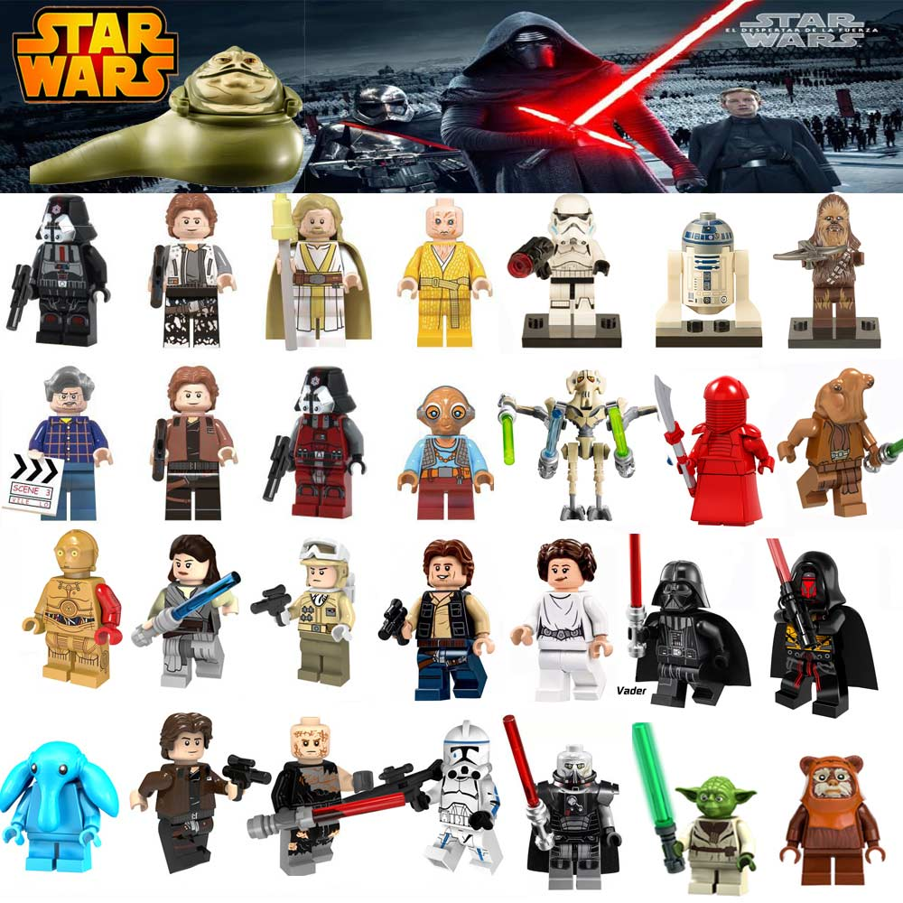 For Legoing Star Wars Figures Sith Trooper Grievous Han Solo Maz Anakin Darth Vader Yoda Starwars Building Blocks Toys Legoings