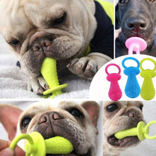 New TPR Nipple Dog Toys For Pet Chew Teething Train Cleaning Poodles Small Puppy Cat Bite Best Pet Dogs Supplies(China)