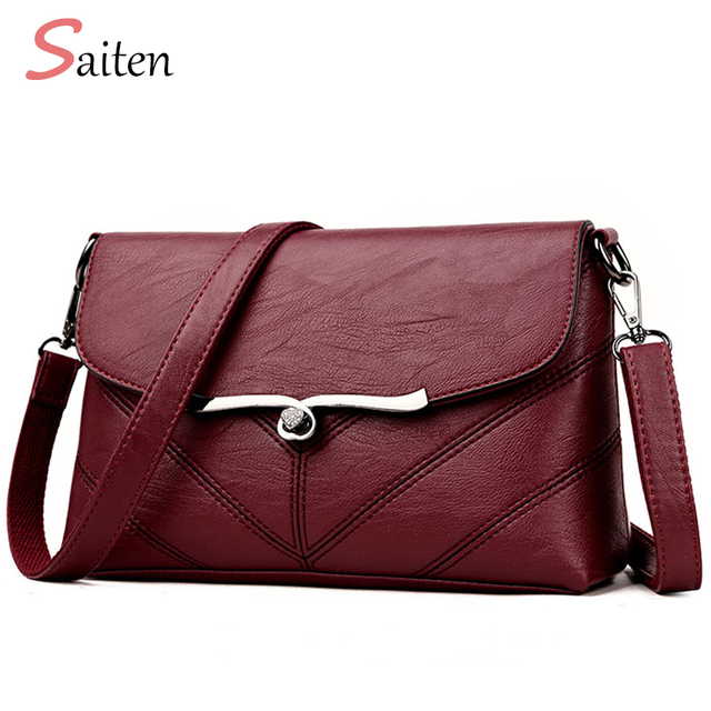 7208133b1e07 ... Cow Women Genuine Leather Handbags Fashion Womens  more photos 1f13b  740bb Saiten Brand 2018 New Fashion Thread Crossbody Bags PU Leather Bags  Women ...