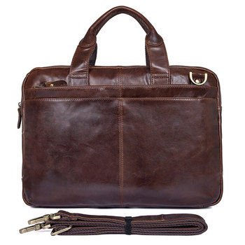 Briefcase For Men Genuine Leather 15 Business Travel Real Leather Handbag Bags Man Business Casual Brand Vintage Tote Bag