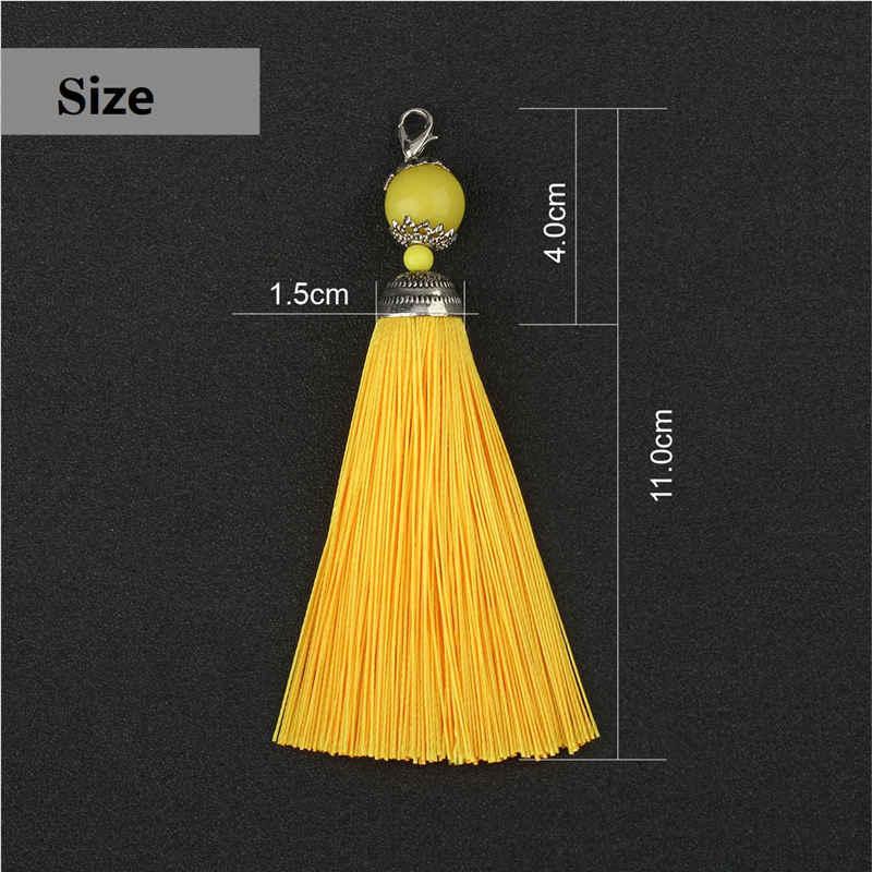 10 個 11 センチメートルビーズシルクタッセルフリンジ縫製ビッグバンタッセルトリムキーのためのタッセル DIY 装飾カーテンアクセサリー部品