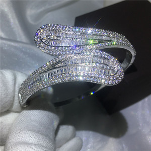 Image 5 - choucong 27 Styles Handmade bangle 5A cubic zirconia White Gold Filled Party bracelets Bangles for women men wedding accessaries