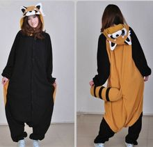 Hot Adults Pajamas All in One Pyjama Animal Suits Cosplay Women Winter Garment Cute Raccoon Cartoon Animal Homewear Pajama Sets