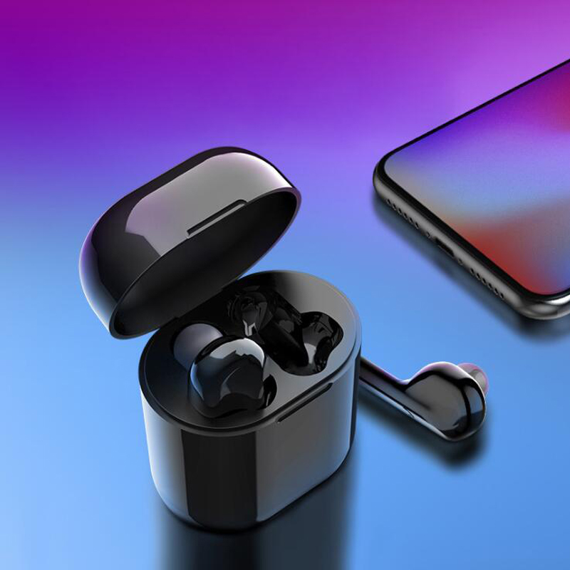TWS Mini Wireless Bluetooth Earphone Sports Stereo Earbud Headset With Charging Box Mic For All Smart phone