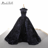 Modabelle Shiny High Neck Floor Length Ball Gown Vintage Quinceanera Dresses Wholesale Sleeveless Sequins Ball Dresses