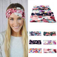 Womens Cute Bow Hairband Turban Knotted Rabbit Hair Band Headband Bohemian Floral Lace Headband Headwear Wedding