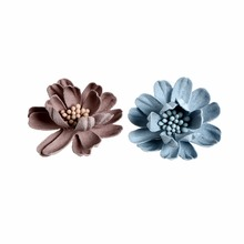 10pcs/lot 2Colors 3Layers Small Artificial Flower with Pistil in Central Infant Hair Accessories For Headband Kidocheese
