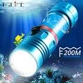 Дайвинг L2 фонарик профессиональный 200 м подводный Divi Кемпинг Lanterna плавное затемнение 18650 или 26650