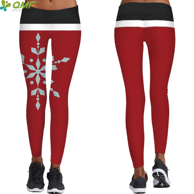 eb5fc363ab Magnified Snowflake 3d Print Yoga Leggings Gym Running Sports Tights · Christmas  Tights