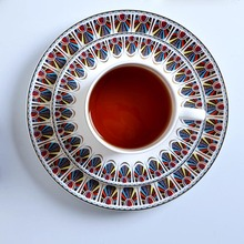 Creative Unique Pattern Ceramic Bone china Fruit Salad Plate Steak Dish Noodles Bowl Rice Dish Coffee