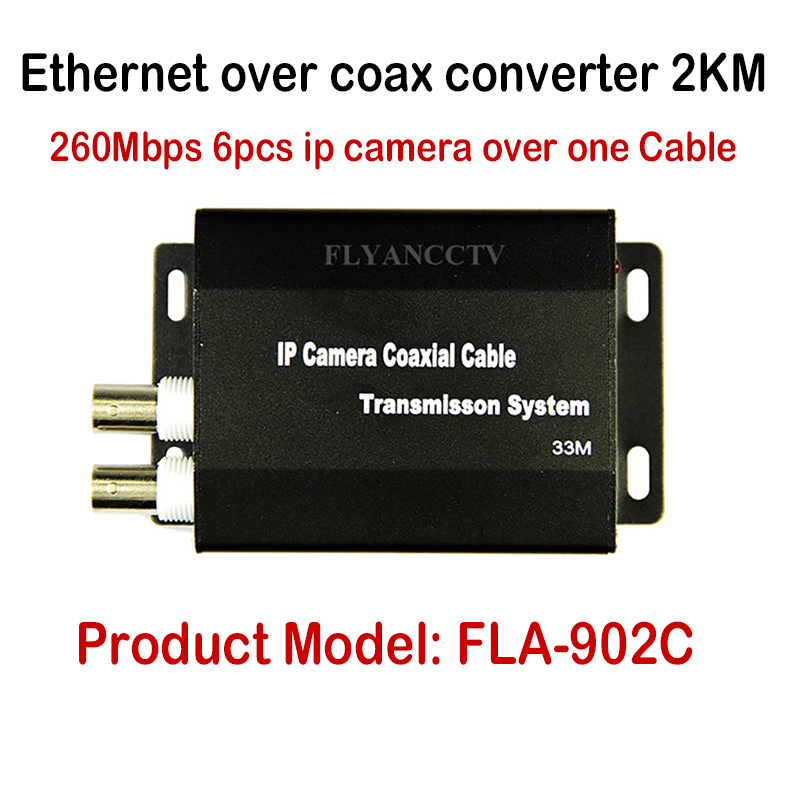 все цены на New Best HD IP CCTV System Ethernet Extender over coax converter 2KM for IP cameras, HD IP video transmit over coaxial cable онлайн