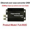 Nuevo Mejor HD IP CCTV Sistema Extensor Ethernet sobre coaxial convertidor 2 KM para cámaras IP, IP HD de transmisión de vídeo a través de cable coaxial