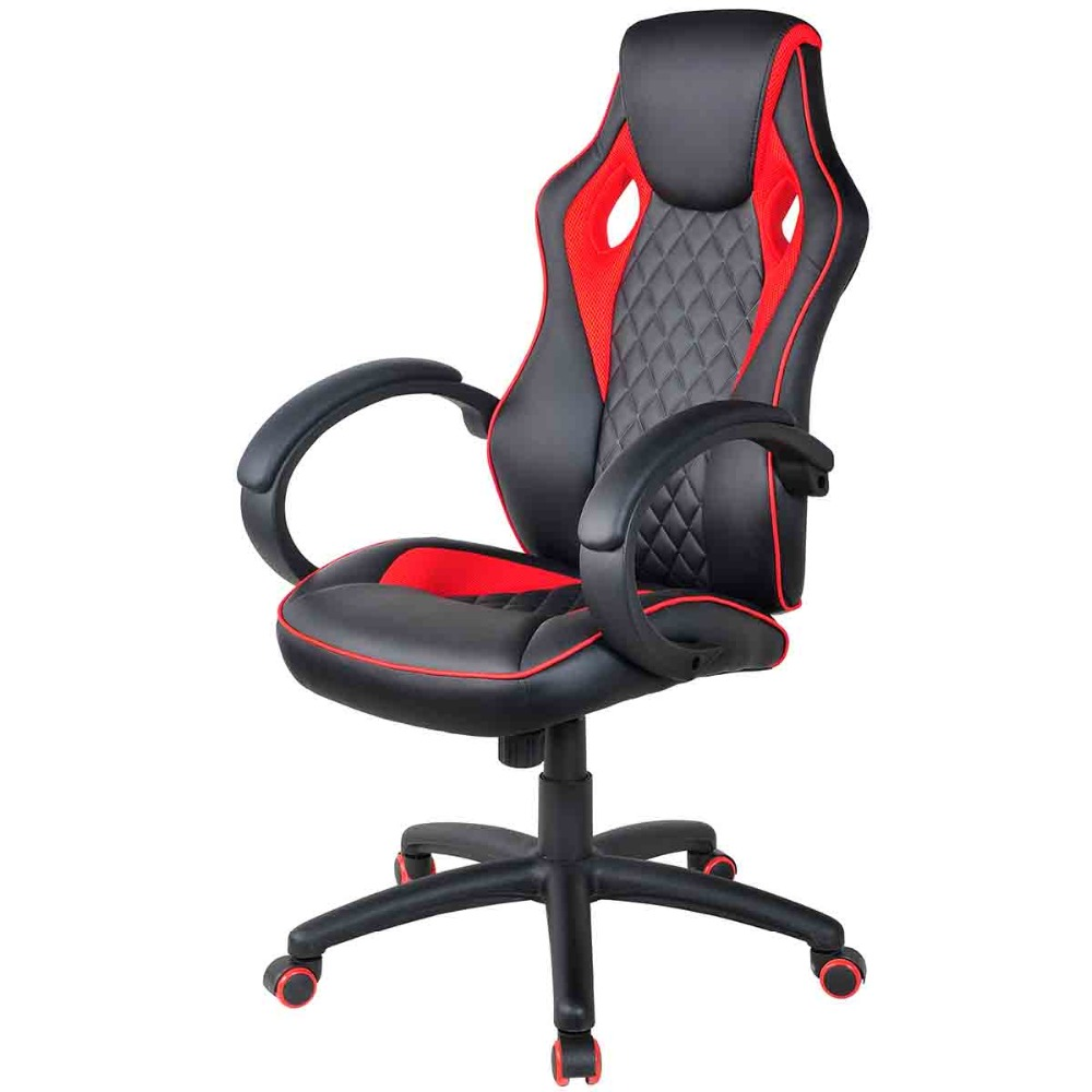COSTWAY Racing Computer Gaming Chair Armchair Executive Chair High Back Lift Chair Swivel Chair Office Furniture HW55926 giantex pu leather ergonomic office chair armchair executive chair boss lift chair swivel chair office furniture hw10069