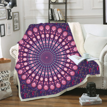 Mandala Throw Blanket For Beds Adults Soft Velvet Plush Sherpa Bed Manta Sofa Colorful Elephant Bedspread Thin Quilt Koc
