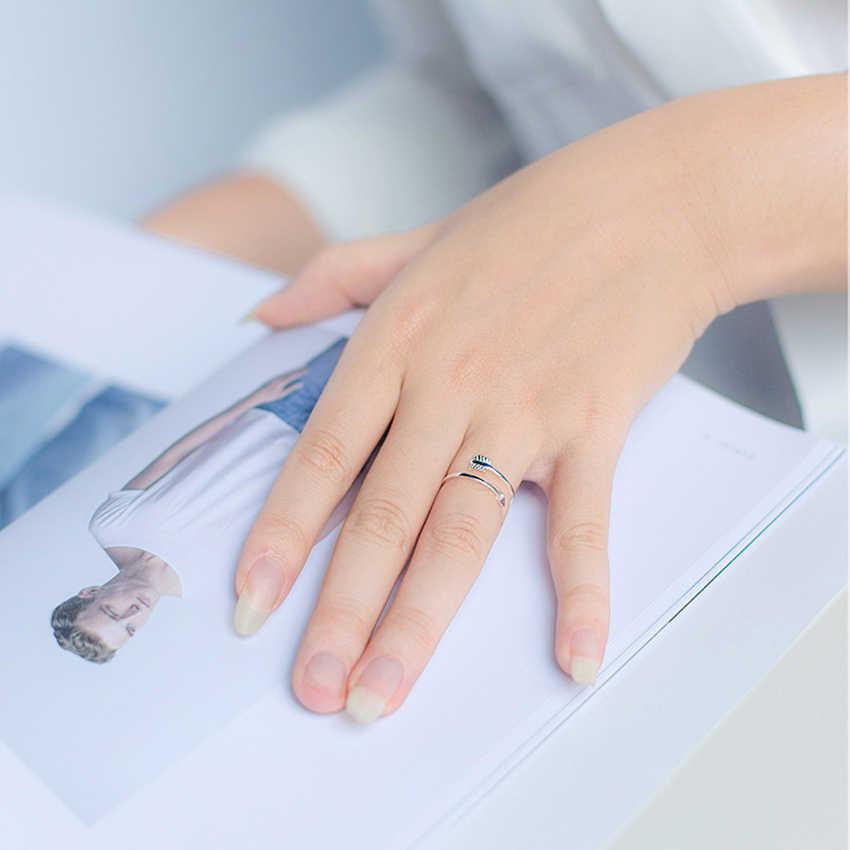 QIMING/Новинка; кольца со стрелками; серебряное однотонное кольцо со стрелкой в форме сердца для женщин; винтажные регулируемые размеры; подарок; мужское кольцо