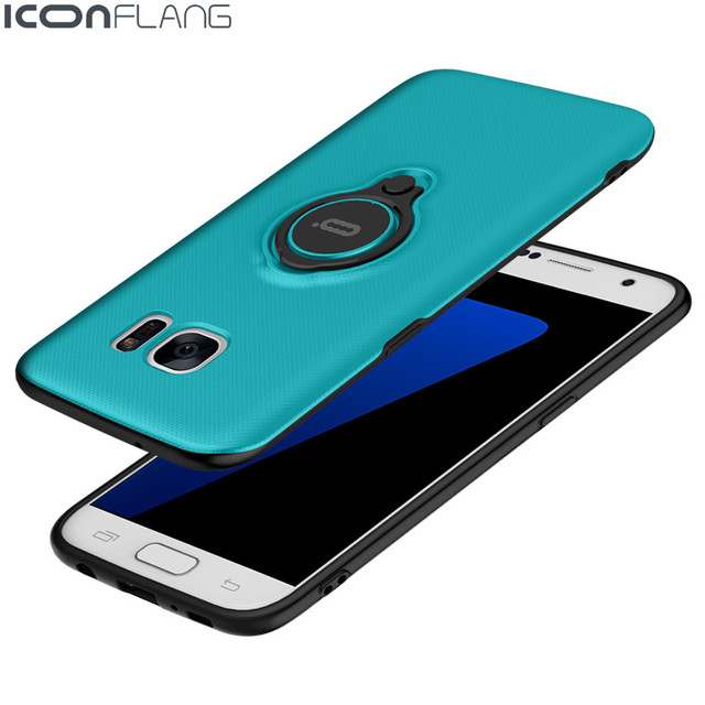 ICONFLANG For Samsung S7 edge case for Samsung S7 case back cover hard coque for galaxy s7 edge cover s7 capa funda luxury blue