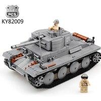 Military Model Building Blocks City Century Military PZKPFW II Tanks Blocks Bricks Educational Toys Hobbies For