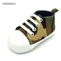 Cootelili lona esporte sapatos de bebê recém-nascidos meninos meninas primeiros caminhantes infantil criança sola macia sapatos infantis tênis para 0-18 m