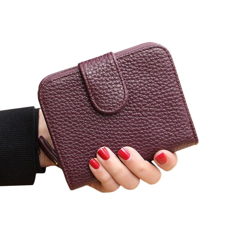 bolsa com bolso de moedas Material Principal : Couro Genuíno
