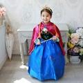 Niñas vestido de navidad Ropa de Verano Vestido de Partido de Los Cabritos Del Vestido de Boda de la Princesa Anna Elsa Snow Queen Vestido Ropa de Los Niños