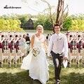 Verão Chiffon Vestidos de Casamento 2017 Cintas de Espaguete Querida Praia Vestidos de Noiva vestido de noiva Custom Made