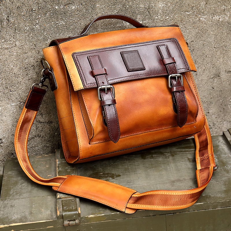 Genuine Leather Men/'s Bags Men Messenger Business Shoulder Crossbody Bag Male