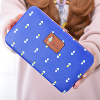 Hasp Long Leather Women Wallet Pouch Multifunction Cartoon Beautiful Girl Pattern Wallets And Purse Portefeuille Femme