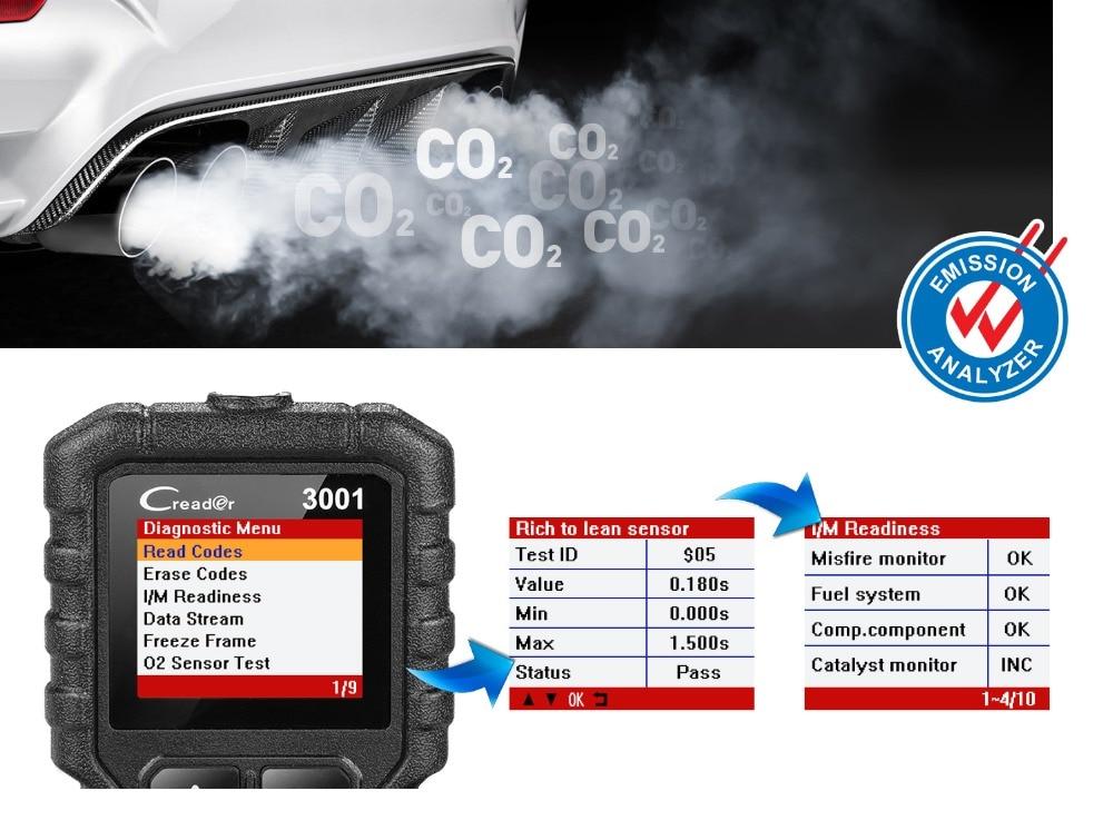 HTB1bUtMXLc3T1VjSZPfq6AWHXXa4 LAUNCH X431 CR3001 Full OBD2 Scanner OBD 2 Engine Code Reader Creader 3001 Car Diagnostic tool PK CR319 AD310 ELM327 Scan tool