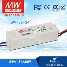 цена на [NC-B] Super value! MEAN WELL original LPV-35-24 24V 1.5A meanwell LPV-35 24V 36W Single Output LED Switching Power Supply