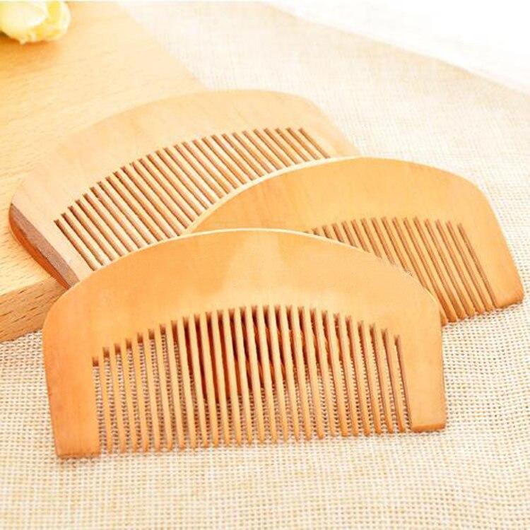 TI40 Fine di legno di pesco pettine dei capelli del pettine dei capelli