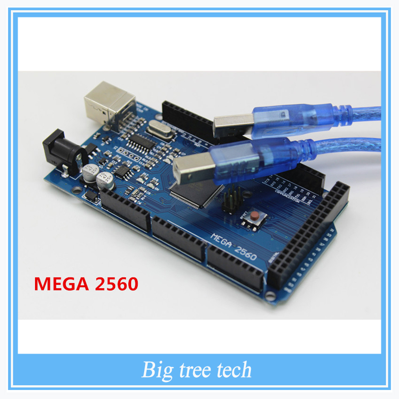 Free shiping  Mega 2560 R3 Mega2560 REV3 ATmega2560 16AU Board USB Cable Compatible Good Quality