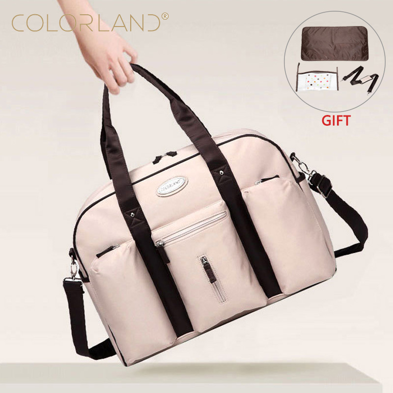 COLORLAND Baby Diaper Bag Backpacks Hobos Mummy Accessories Nappy Changing Stroller Organizer Wet Bags Travel Messenger