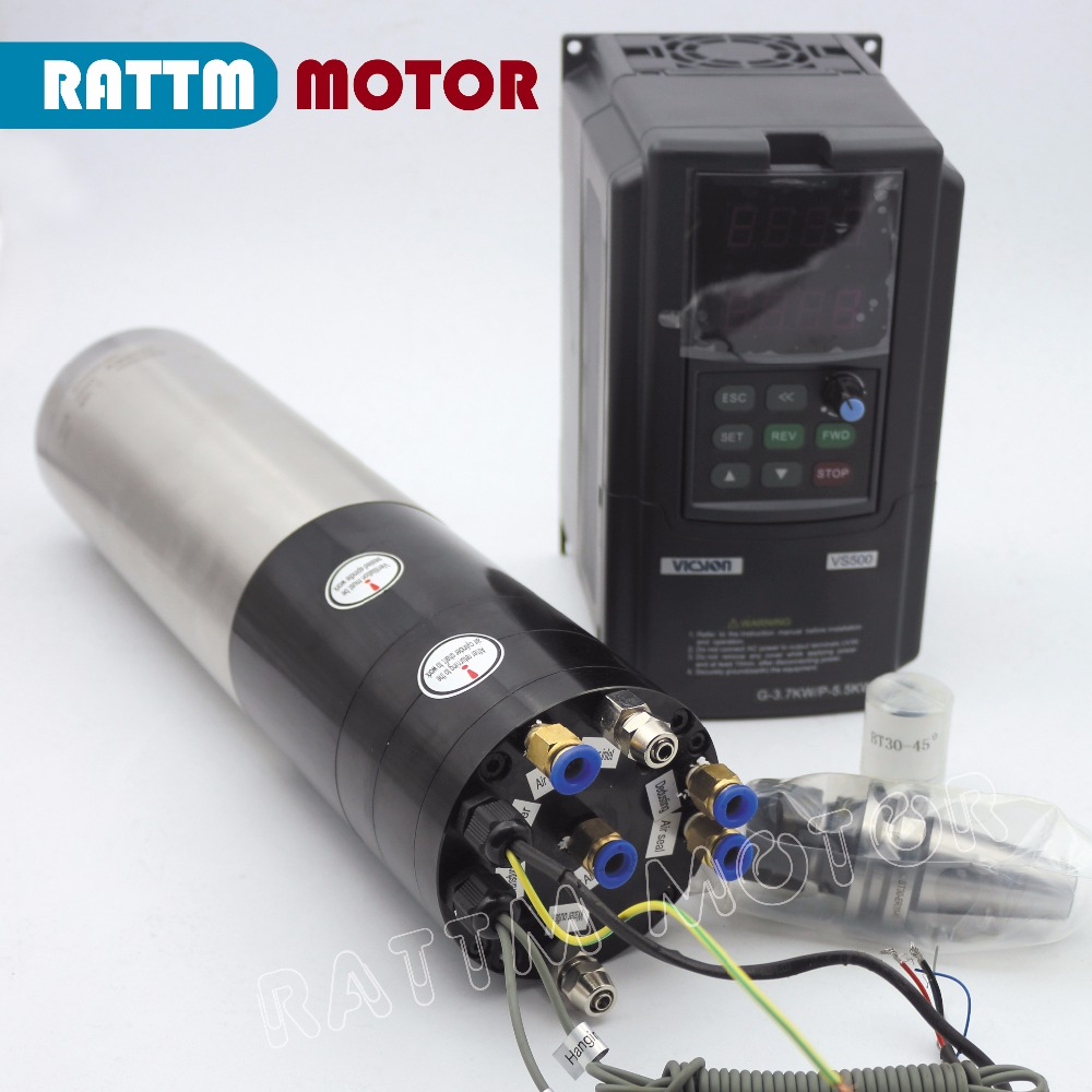 3KW CNC ATC broche moteur KIT BT30 & 3.7KW SUNFAR marque onduleur 380 V pour CNC fraiseuse
