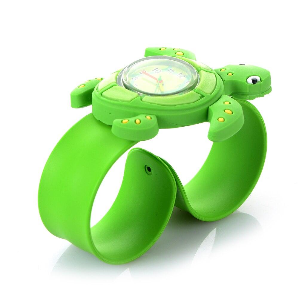 3D Kids Cartoon Watches Lovely Silicone Band Slap Watch Casual Animal Children Clock Creative Quartz Wristwatch Christmas Gift