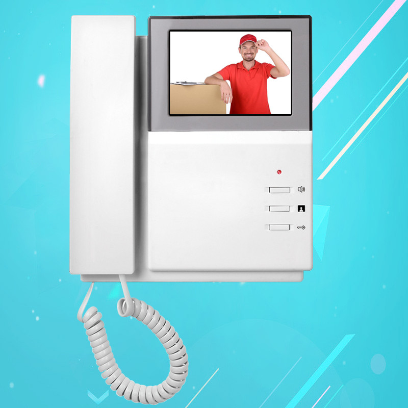 Classical 4.3 Color LCD Video Door Phone Video Intercom Indoor Monitor Wired Door Intercom Without Outdoor Doorbell IR Camera