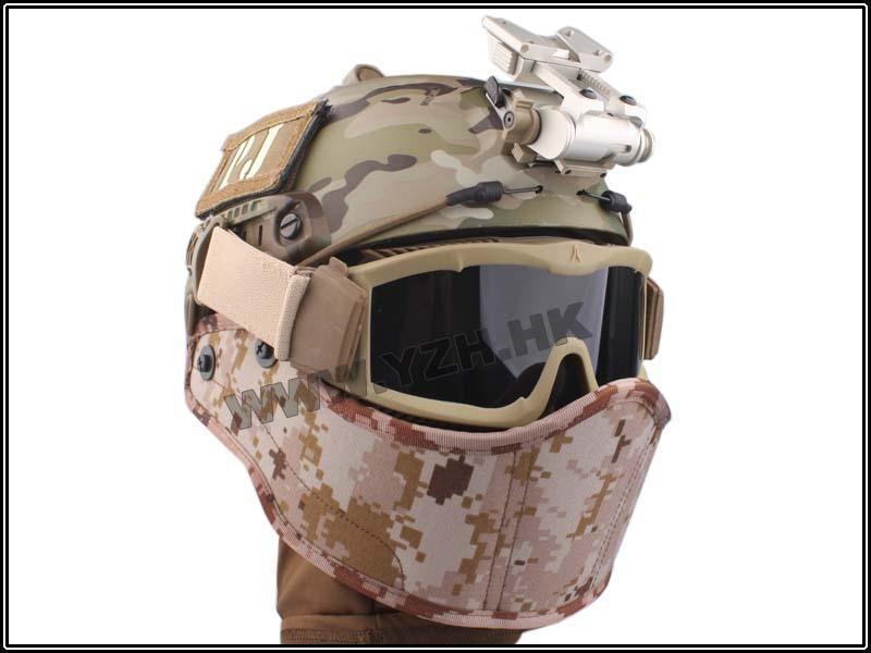 EMERSON Tactical Helmet Armour Face Mask airsoft militari equipment AOR1 BD6635B war games gear Helmet Mask