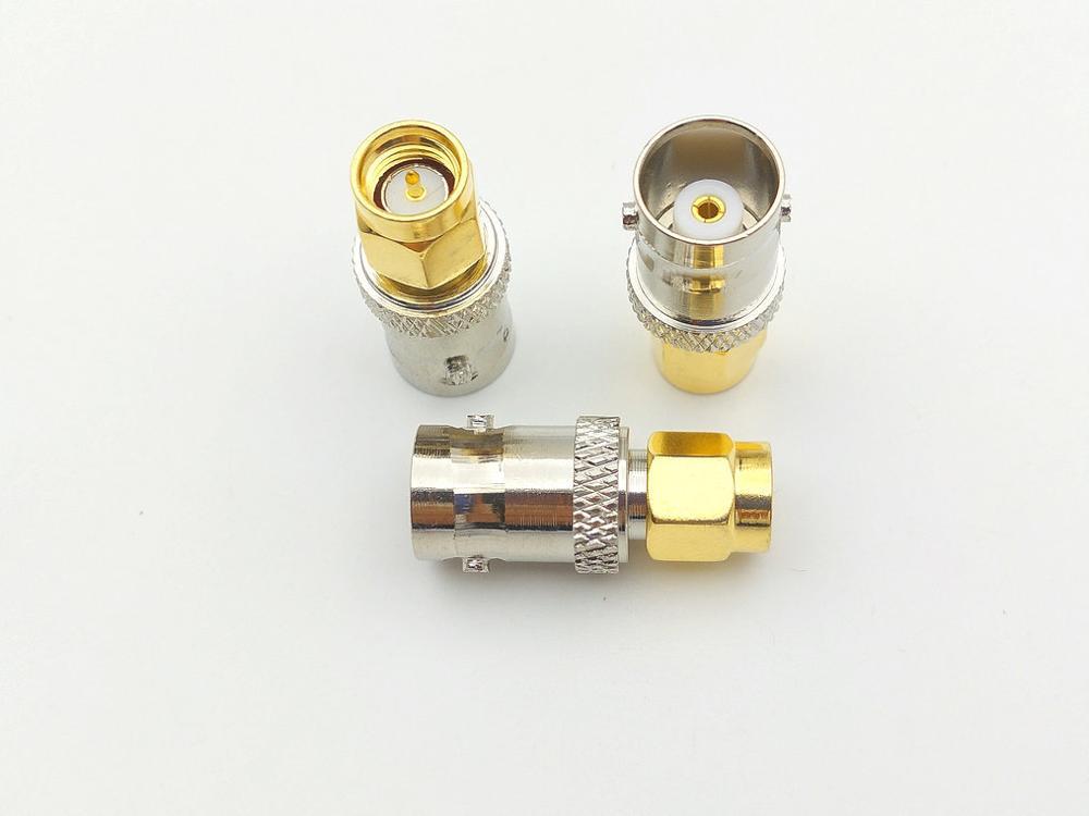 100pcs copper BNC female to SMA male plug coax RF antenna ADAPTER