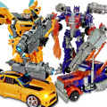 NEW Arrival Transformation Robot Car Toys Bumble Bee Optimus Prime Boys Xmas Gift