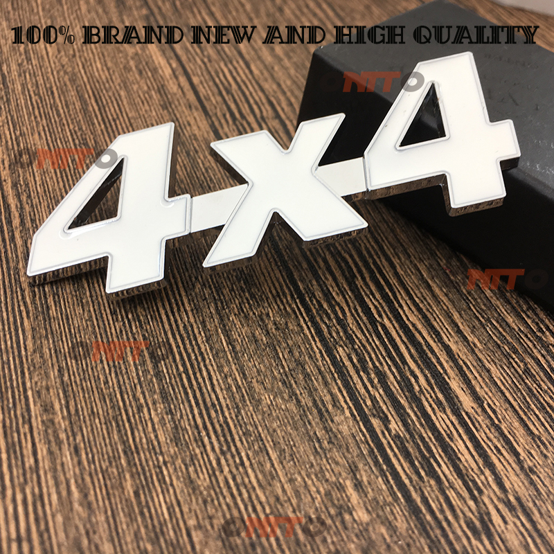 auto White Metal 3D 4x4 Displacement Car stickers Logo Emblem Badge Truck Auto Motor Car Styling Sticker Decal Four-wheel drive ...