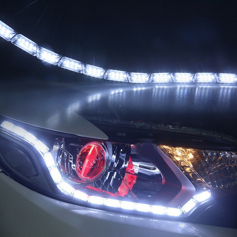 2pcs led hot sale strip flexible light waterproof daytime running 2pcs led hot sale strip flexible light waterproof daytime running lights drl turn signal bulb lamp us85 aloadofball Gallery