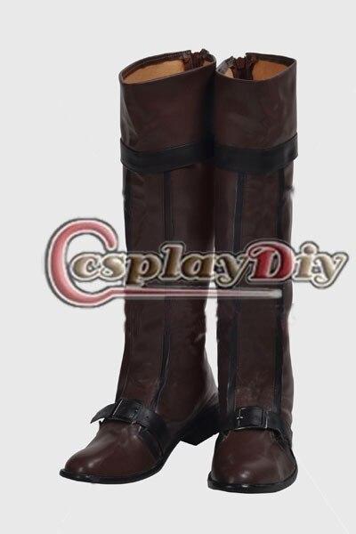 Assassins Creed III The Night Stalker botas de Cosplay adultos Mens Cosplay zapatos hechos a medida D0307