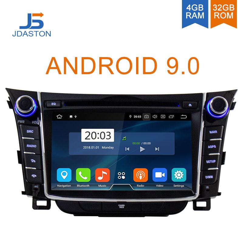 I30 JDASTON Android 9.0 Jogador Do Carro DVD Para Hyundai Elantra GT 2012-2018 WIFI GPS Multimídia Estéreo 2 Din carro gravador de Rádio