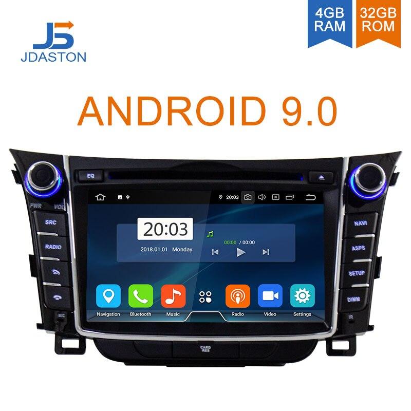 JDASTON Android 9.0 lecteur DVD de voiture pour Hyundai I30 Elantra GT 2012-2018 WIFI multimédia GPS stéréo 2 Din autoradio magnétophone