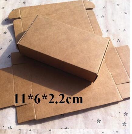 29a8589187f 100pcs Cheap Kraft gift packaging cardboard paper box