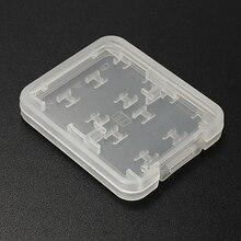 8 em 1 Plástico Micro SD SDHC TF MS Cartão de Memória Storage Case Box Protector Titular