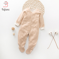 Newborn Baby Boy Clothes Organic Cotton Footies Lucky Child Baby Girl Clothing No Dyed Safe Children
