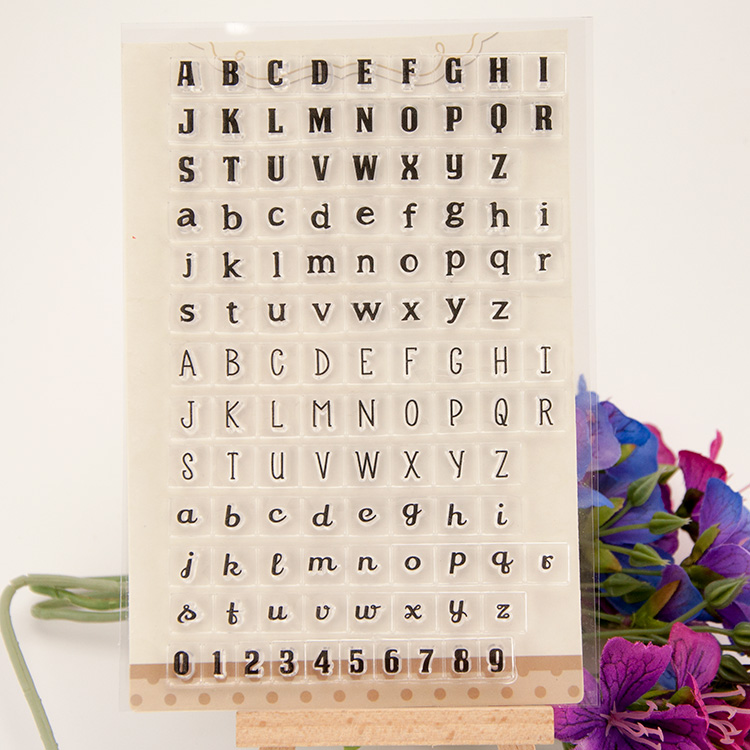 English alphabet ABCD LETTER Transparent Clear Silicone Stamp/Seal DIY scrapbooking/photo Decor clear stamp sheets Handwork art
