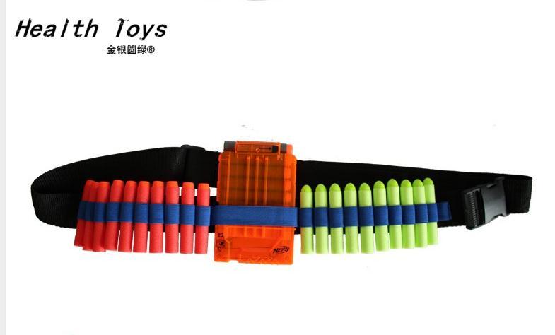 Blue Kids Toy Gun Bullet Shoulder Strap Darts Ammo Storage Holder Paintball For Nerf Toy