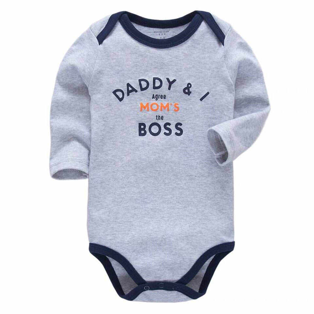 c447f1a0f527 Baby Boys Bodysuit Babies Newborn Toddler Long Sleeve One Piece Body 3-24  Months Lovely