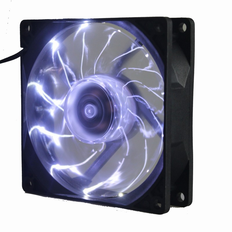 5Pcs Gdstime White Led 90mm 9225 3Pin DC 12V PC CPU Computer Cooling Cooler Fan in Fans Cooling from Computer Office